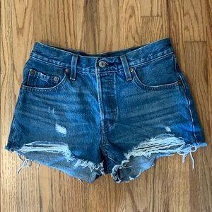 Distressed Levi's 501 Shorts